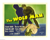 "The Wolf Man (Universal, 1941). Title Lobby Card (11"" X 14""). By the early 1940s, Universal had two well estab..."