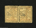 Continental Currency February 17, 1776 $1/3 Fine-Very Fine. An unsevered pair of $1/3 Continental Fractionals that clear...