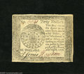 Colonial Notes:Continental Congress Issues, Continental Currency April 11, 1778 $40 Contemporary CounterfeitVery Choice New....