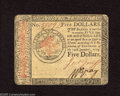 Colonial Notes:Continental Congress Issues, Continental Currency January 14, 1779 $5 About New. Minor handlingis detected on this Continental from the last issue....