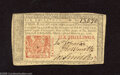 Colonial Notes:New Jersey, New Jersey March 25, 1776 6s Extremely Fine. This note remains veryfirm and vivid with a center fold and some corner dings....
