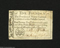 Colonial Notes:North Carolina, North Carolina December 1771 $5 Extremely Fine. A problem-free example of this much scarcer denomination from the most comm...