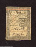 Colonial Notes:Pennsylvania, Pennsylvania October 1, 1773 20s Extremely Fine. A corner fold ispaired with lateral and vertical center folds on this Colo...