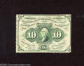 Fractional Currency:First Issue, Fr. 1241 10c First Issue About Uncirculated. A scarce no monogram perforated note that has a couple flecks of rust with shor...