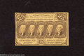 Fractional Currency:First Issue, Fr. 1281 25c First Issue About Uncirculated. This note exhibits one fold with solid surfaces, but was cut slightly askew....