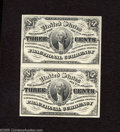 Fractional Currency:Third Issue, Fr. 1226 3c Third Issue Choice Crisp Uncirculated.Two Examples. Here is a lovely uncut pair of type notes that are Gem on th... (2 notes)