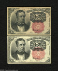Fractional Currency:Fifth Issue, Fr. 1265 and Fr. 1266 10c Fifth Issue Choice Crisp Uncirculated orbetter. A very interesting pair that are both well margin... (2notes)