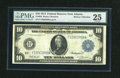 Fr. 926 $10 1914 Federal Reserve Note PMG Very Fine 25