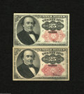 Fractional Currency:Fifth Issue, Fr. 1308 and Fr. 1309 25c Fifth Issue Choice Crisp Uncirculated. Anice long and short key pair of Walkers that are crisp an... (2notes)