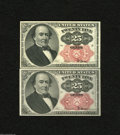 Fractional Currency:Fifth Issue, Fr. 1308 and Fr. 1309 25c Fifth Issue Choice About Uncirculated. Avery pleasing pair of Walker varieties that are fresh and... (2notes)