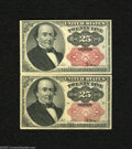 Fractional Currency:Fifth Issue, Pair of Fr. 1309 25c Fifth Issue Extremely Fine-About Uncirculated.An attractive pair of short key Walkers with one grading... (2notes)