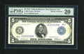 Fr. 880 $5 1914 Federal Reserve Note PMG Very Fine 20