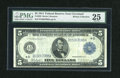 Fr. 858 $5 1914 Federal Reserve Note PMG Very Fine 25