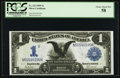 Large Size:Silver Certificates, Fr. 232 $1 1899 Silver Certificate PCGS Choice About New 58.. ...