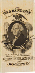 Political:Ribbons & Badges, George Washington: Temperance Society Silk Ribbon....