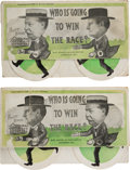 Political:Small Paper (1896-present), William Howard Taft and William Jennings Bryan: Matched Pair of Mechanical Footrace Postcards.... (Total: 2 Items)