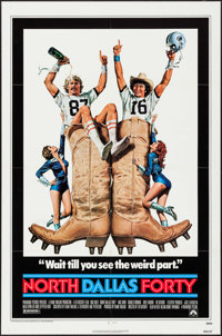 """North Dallas Forty & Others Lot (Paramount, 1979). One Sheets (3) (27"""" X 41"""") Morgan Kane Artwork. Sports..."""