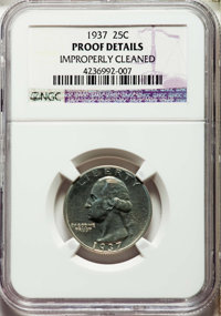 1937 25C -- Improperly Cleaned -- NGC Details. Unc. NGC Census: (1/976). PCGS Population: (7/1726). CDN: $130 Whsle. Bid...