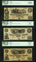 Obsoletes By State:Michigan, Adrian, MI- Adrian Insurance Company PCGS Graded Three Examples . ... (Total: 3 notes)