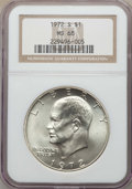 Eisenhower Dollars, 1972-S $1 Silver MS68 NGC. NGC Census: (455/5). PCGS Population: (1999/25). Mintage 2,193,056. . From The Star Mountai...