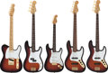 Musical Instruments:Electric Guitars, 1995 Fender 50th Anniversary American Instrument Set Sunburst SolidBody Electric Guitars & Basses.... (Total: 7 )