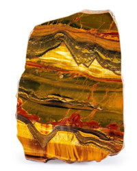 Tiger's-Eye Slab Mt. Brockman Station Pilbara Western Australia 9.06 x 6.30 x 0.59 inches (23.00 x 16