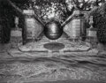 Photographs, Jerry Uelsmann (American, b. 1934). Untitled (Stairs and orb), 1983. Gelatin silver. 14-7/8 x 18-3/4 inches (37.8 x 47.6...