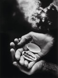 Photographs, Jerry Uelsmann (American, b. 1934). Untitled (Hands and shell), 1987. Gelatin silver. 19-1/4 x 14-1/2 inches (48.9 x 36....