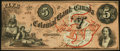 Canadian Currency, Toronto, CW- Colonial Bank of Canada $5 May 4, 1859 Ch. # 130-10-04-10. ...