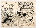 DC Batman Family #20 Wraparound Production Stat Cover (DC, 1978) Comic Art