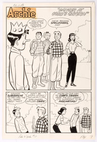 "Harry Lucey Archie's Pals 'n' Gals #17 Complete 7-Page Story ""Danger At Cobb's Cavern"" Original Art (Archie Co..."