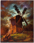 Don Marquez - Windmill from Frankenstein Painting Original Art (2007) Comic Art