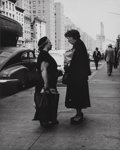 Photographs:Gelatin Silver, Martin Elkort (American, 1929-2016). The Gossips, New York's Lower East Side, 1950. Gelatin silver. 9-1/2 x 7-5/8 inches...