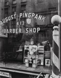 Photographs, Berenice Abbott (American, 1898-1991). Pingpank Barber Shop, 413 Bleecker Street, 1935. Gelatin silver, printed later. 1...