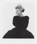 Photographs:Pigment ink print, Bert Stern (American, 1929-2013). Marilyn Monroe in Black DiorDress (from The Last Sitting, Vogue), 1962. Digital pigme...