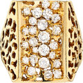 Estate Jewelry:Rings, Gentleman's Diamond, Gold Ring The ring featur...