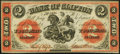 Canadian Currency, Clifton, PC- Bank of Clifton $2 Sep. 1, 1861 Ch. # 125-12-06. ...