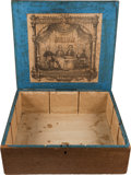 Political:3D & Other Display (pre-1896), Lewis Cass et al: Awesome, Large Wooden Cigar/Tobacco Box. ...