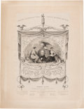 """Political:Posters & Broadsides (pre-1896), Henry Clay: Large """"Whig Prize Banner"""" Print...."""