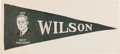 Political:Textile Display (1896-present), Woodrow Wilson: Rare Campaign Pennant....