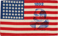 Political:Textile Display (pre-1896), Grover Cleveland: 1892 Silk Portrait Flag....
