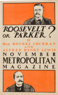 Political:Posters & Broadsides (1896-present), Theodore Roosevelt and Alton B. Parker: Election Issue MagazineAdvertising Poster....