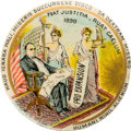 Political:Pinback Buttons (1896-present), William McKinley: Large Size Pro-Expansion Latin Button in Choice Condition....