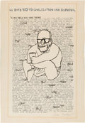 Political:Posters & Broadsides (1896-present), [Lyndon B. Johnson]: Anti-Goldwater Silk Screen Poster Signed by the Artist Ben Shahn....