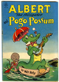 Golden Age (1938-1955):Funny Animal, Four Color #105 Albert the Alligator and Pogo Possum (Dell, 1946)Condition: VG....
