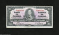 Canadian Currency: , BC-24c $10 1937 This is the first bilingual Canadian series....