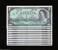 Canadian Currency: , BC-45a $1 1967 Ten Examples This grouping holds ten examples of theCentennial issue with the 1867 1967 dates instead of a ... (10notes)