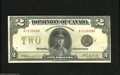 Canadian Currency: , DC-26l $2 1923 This Campbell-Clark Black Seal Group 4 note comesfrom the last series for this design, Series X. Very Fin...
