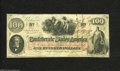 Confederate Notes:1862 Issues, T41 $100 1862. This Calhoun note carries some stampings and writingon the back. Crisp Uncirculated....