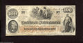 """Confederate Notes:1862 Issues, T41 $100 1862. The folds on this Scroll 2 $100 are restricted tothe corner areas. Paper is watermarked """"J. Whatman. 1862."""" ..."""